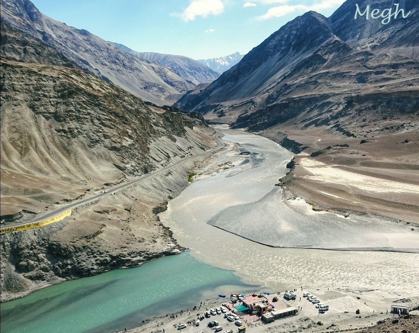 Photo of Confluence of Indus(right)and Zanskar(left) By Meghali Ghosh