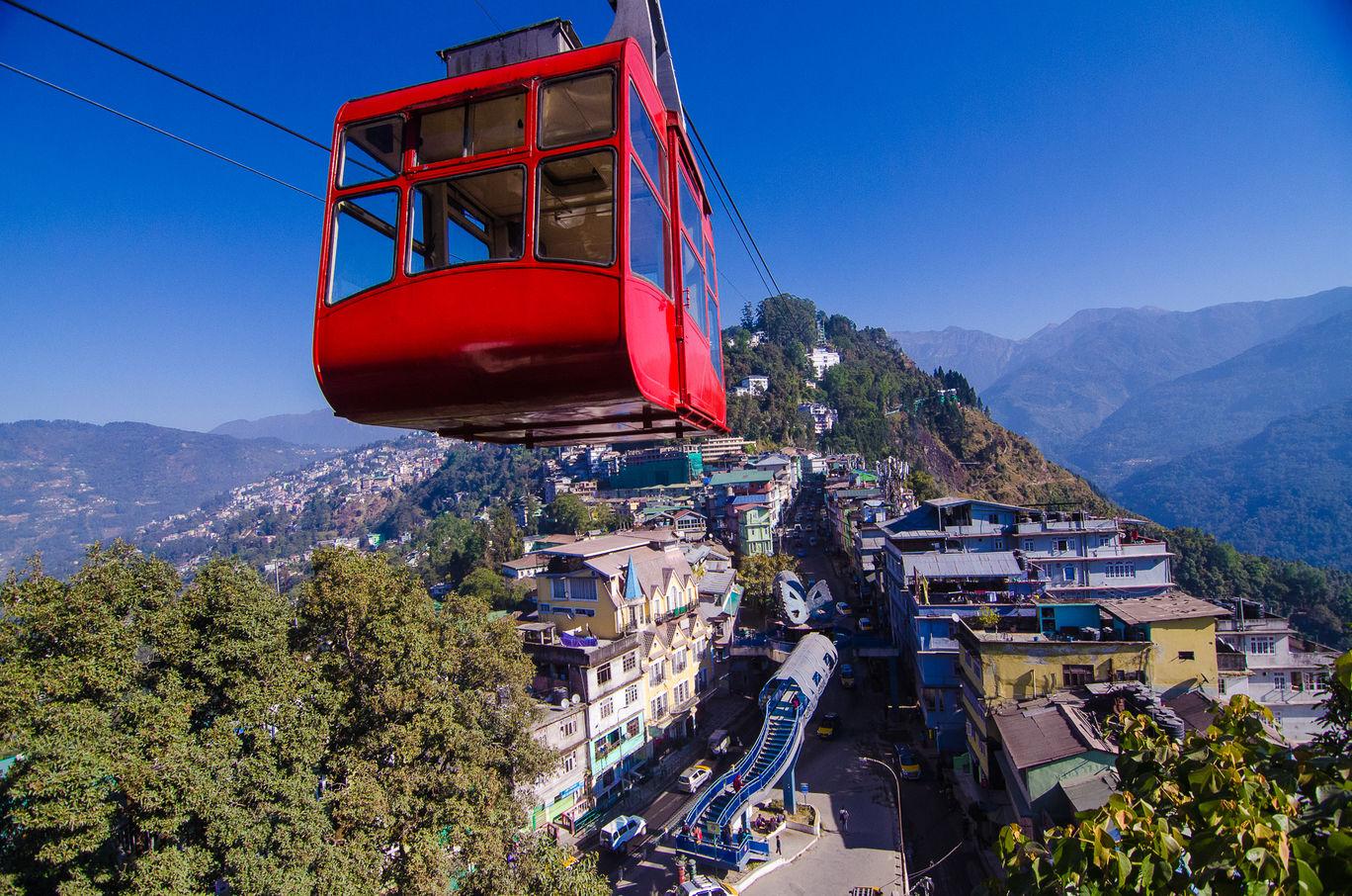 Photo of Gangtok Ropeway By Jayanti Talukdar Mitra