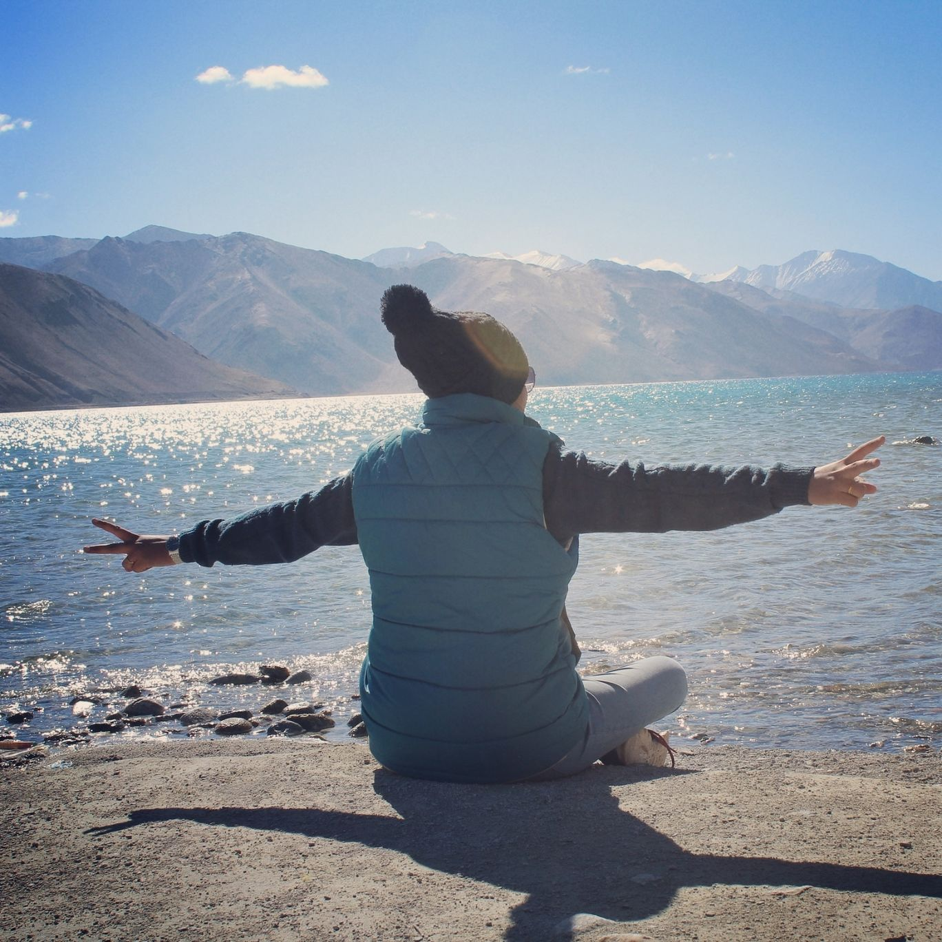 Photo of Pangong Lake By anubha jain
