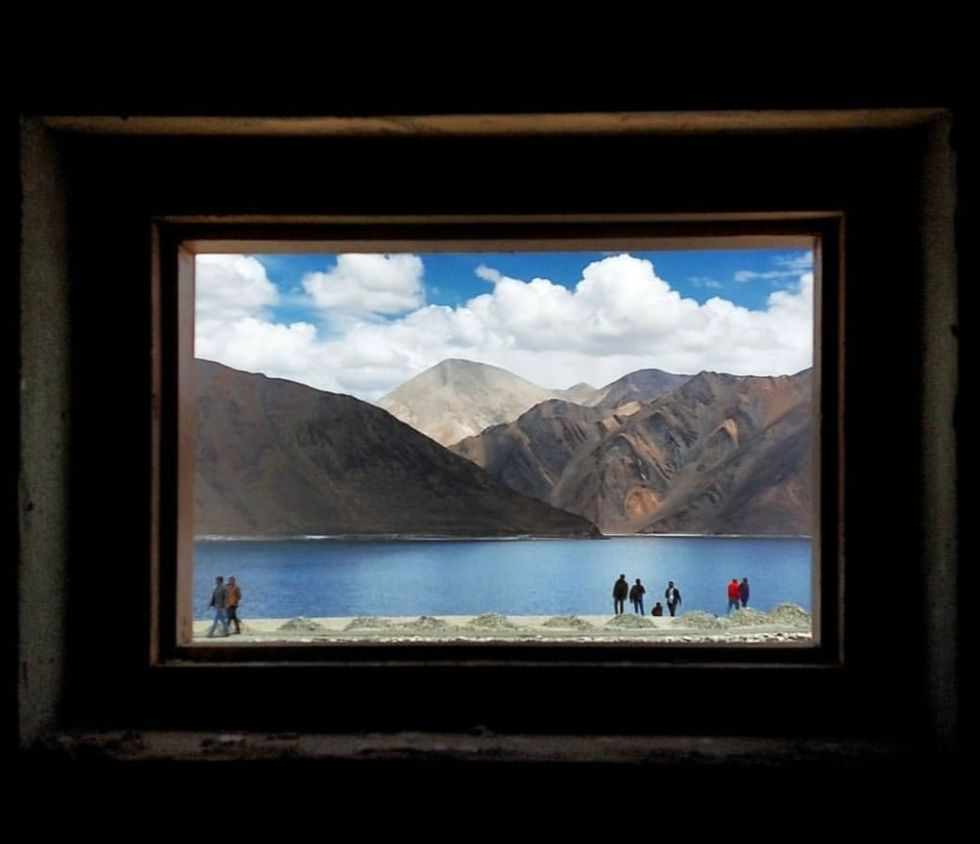 Photo of Pangong Lake By an_indian_onboard