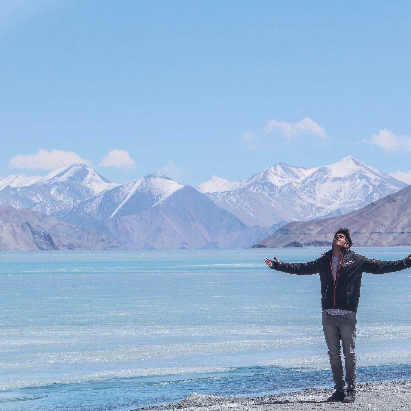 Photo of Pangong Lake By Anuj Upadhyay