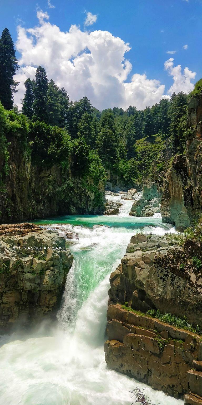 Photo of Aharbal Waterfall By ilyas khanday