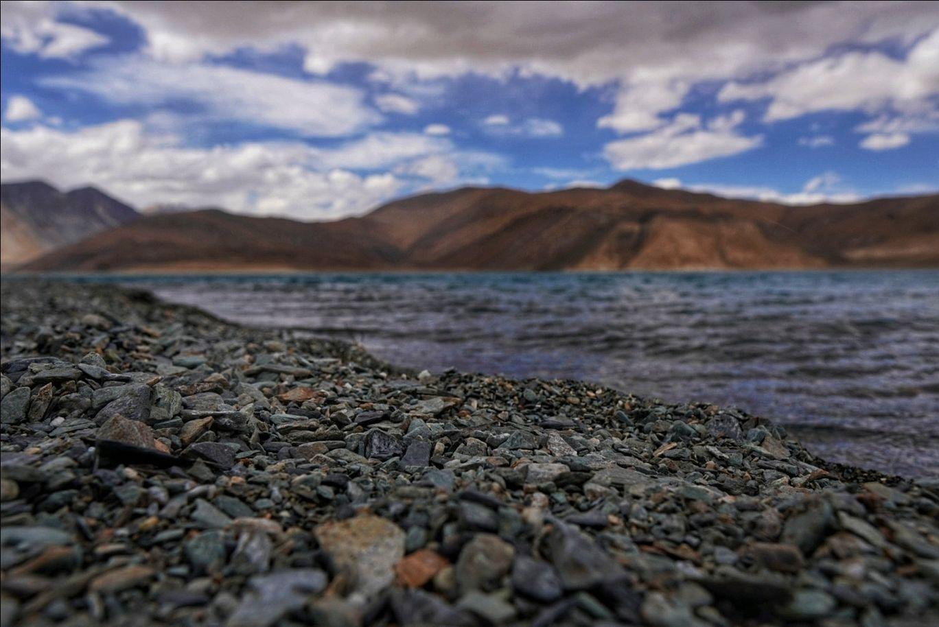 Photo of Pangong Lake By Vamsi Krishna Achyutuni