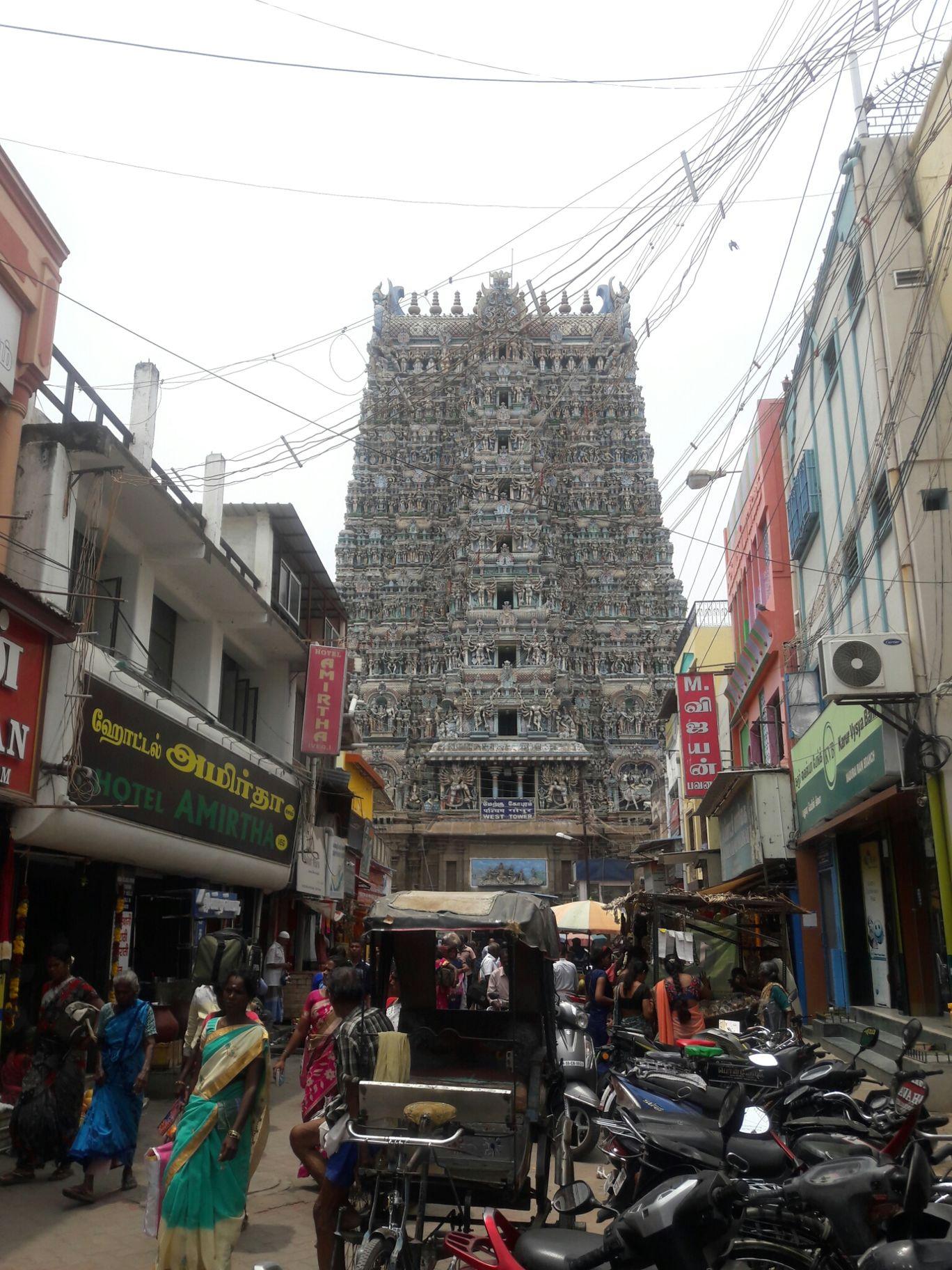 Photo of Madurai Meenakshi Amman Temple Road By Om A Raut...