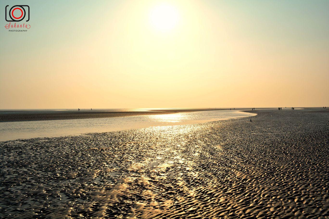 Photo of Golden Color Sunset at Bokkhali Sea Beach By Sukanta Maity