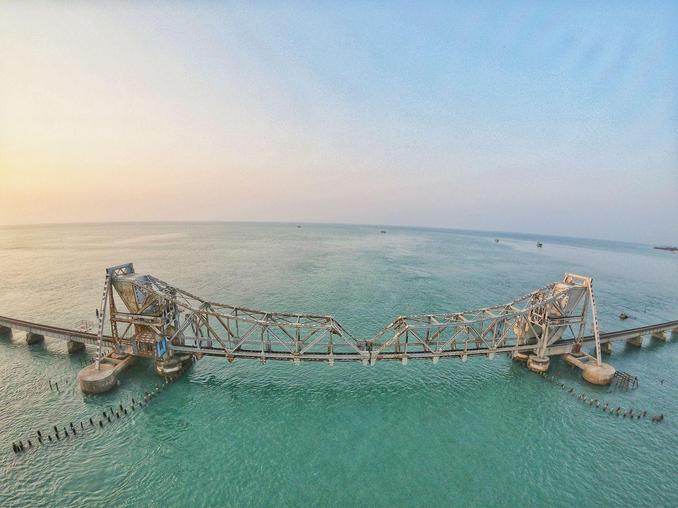 Photo of Pamban Bridge By Abhisek Datta