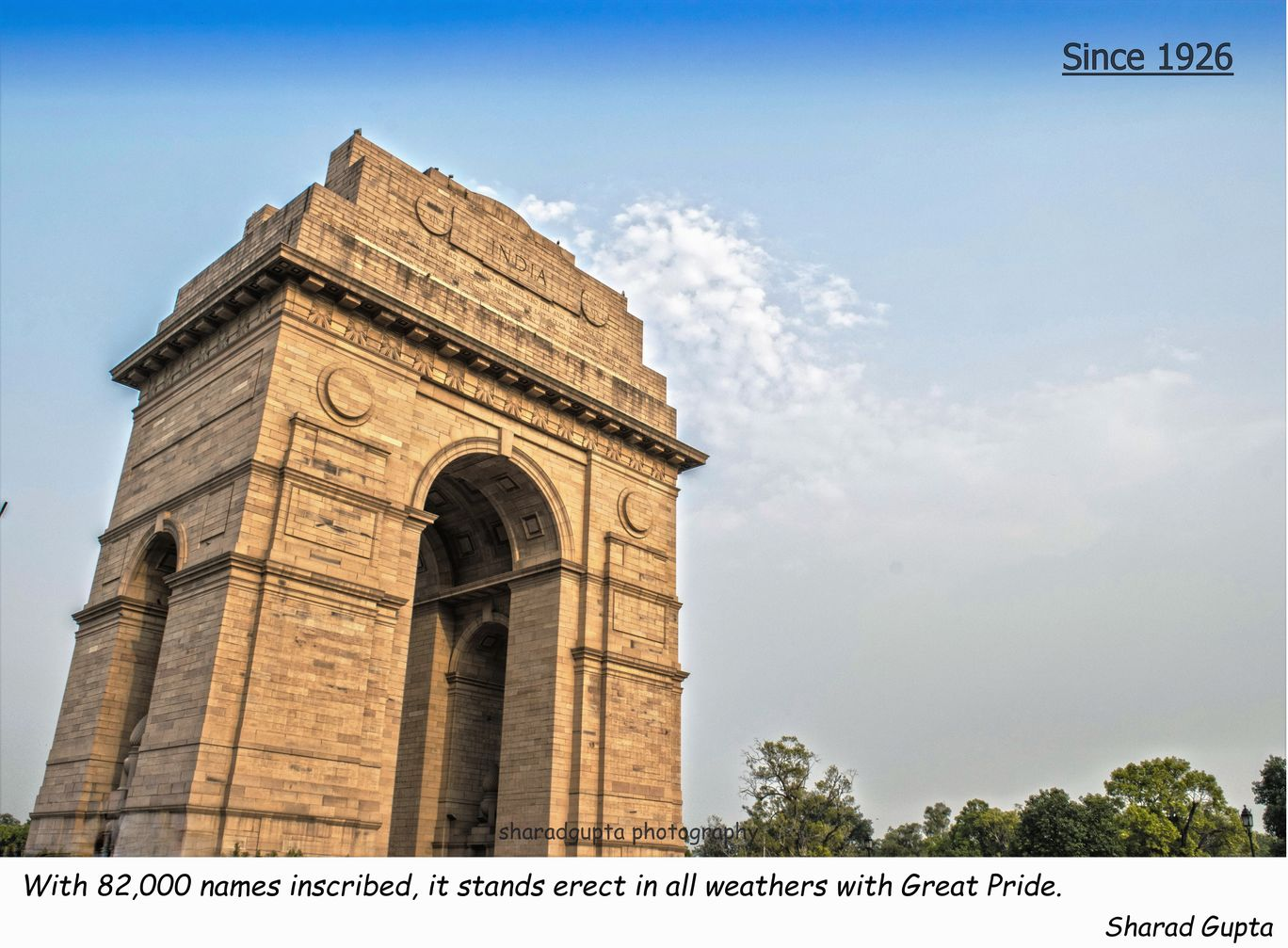 Photo of India Gate By Sharad Gupta