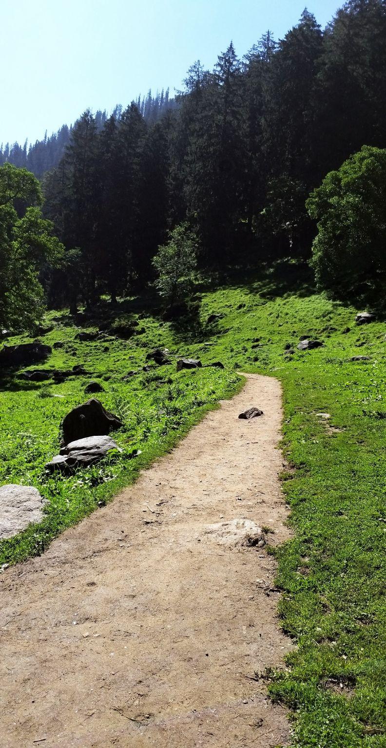 Photo of KheerGanga Waterfall - Half way By Bhavya Shah