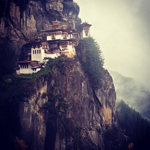 Chanting Om Mani Padme Hum in Bhutan