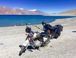 World famous Pangong Lake, Ladakh