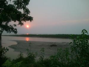 Dikhowmukh ... Confluence of Dikhow  with mighty Brahputra