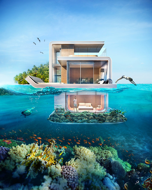 Dubai's New Floating Villas Are So Stunning They Almost Look Photoshopped
