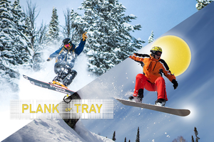 Plank Or Tray- Snow Boarding : Skiing