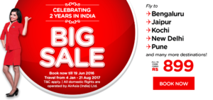 Air Asia Is Now Offering Domestic Tickets For As Low as Rs. 899 & International Flights For Rs. 3999