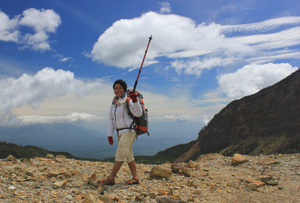 Papandayan, Indonesia with a backpack!