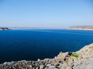The blue river and Nagarjuna Sagar, Telengana