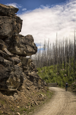 Cycling Myra Canyon