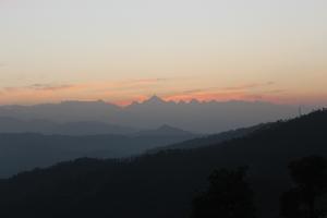 beautiful sunrise in uttrakhand
