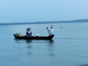Back at the waters - Ashtamudi, Kerala