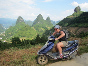 Scooter adventure in Yangshuo, China