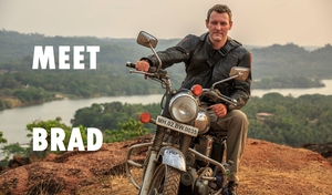 Meet Brad, Who is been riding on a Royal Enfield all around India - Day out in Mangalore