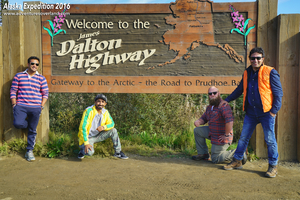 Daring drive on Dalton Highway, Alaska