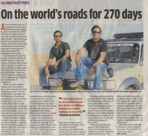 A quick drive around the world – 50 countries, 6 continents, 90000 kms!