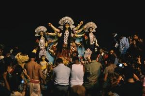 The Goddess arrives: Kolkata