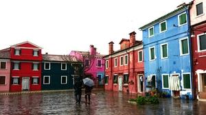 Burano: A favorite vivid color island.