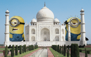 These Pictures of Minions Taking Over Famous Places is Strangely Super Adorable