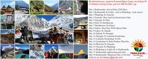 Everest Base Camp Trek via beautiful pristine Gokyo Ri Lake - 17 Days Trek----INR 83000/-per person