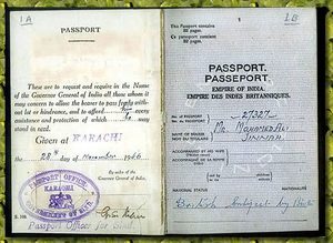 History of Indian passport and visa