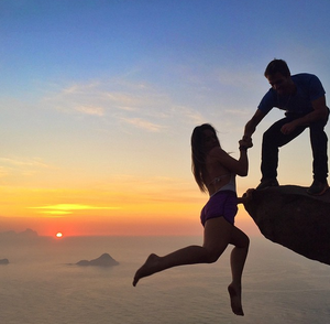 This couple is taking romance to dangerous heights