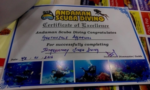Experiencing  Underwater Magic: Scuba Diving@Andamans