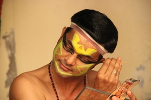 Stages of strenuous Kathakali make-up in pictures
