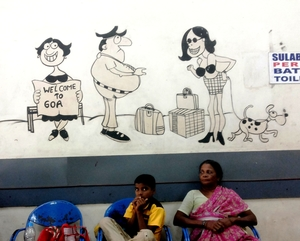 Fascinating murals at Madgaon railway station, Goa