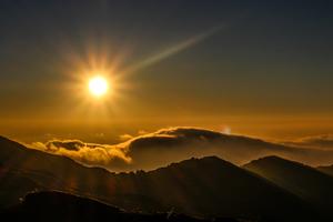 Sunrise in Nepal.