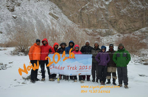 Chadar Trek in Leh 2016