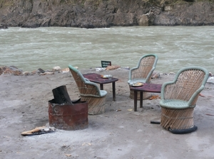 A serene Beach Camping and thrilling Rafting Experience at Rishikesh