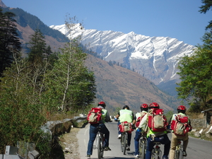Manali on a cycle