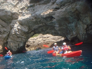 Sea kayaking from Lopud Island