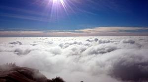 Skandagiri - The sod amongst clouds.