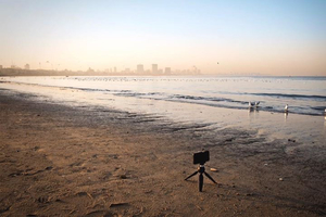 Sunrise at Girgaon Chowpatty | Seagulls | Mumbai