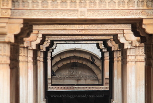 Carved Poetry On Rock At Adalaj Stepwell