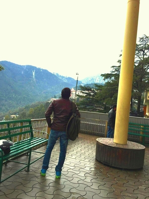 Mcleodganj on my Royal Enfield Thunderbird from Gurgaon weekend Trip