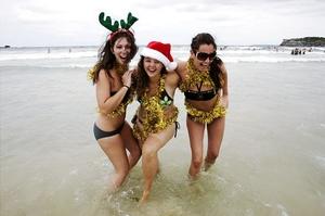Sunny Christmas at Bondi Beach, Australia