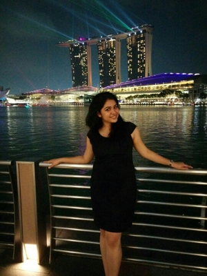 First foreign trip to Singapore