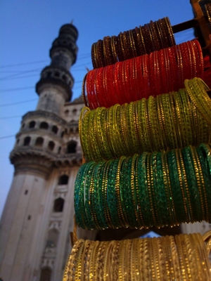A bevy of bangles, Osmania biscuits and chai around Charminar, Hyderabad