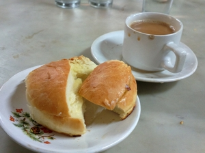 Bun maska and chai in the 100-year-old B Merwan & Co. Mumbai before it was shut down