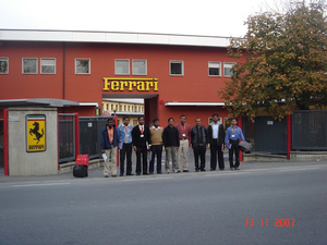 A day in Ferrari factory Maranello, Italy.